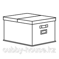СТОРСТАББЕ Коробка с крышкой, бежевый, 35x50x30 см, фото 3