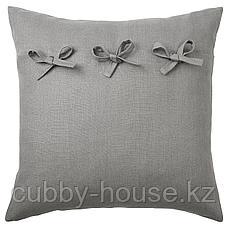 АЙНА Чехол на подушку, серый, 50x50 см, фото 2