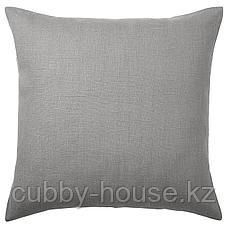 АЙНА Чехол на подушку, серый, 50x50 см, фото 3