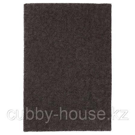 СТОЭНСЕ Ковер, короткий ворс, темно-серый, 200x300 см, фото 2