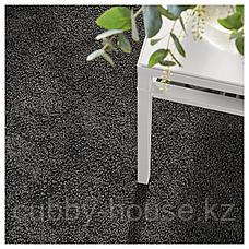 СТОЭНСЕ Ковер, короткий ворс, темно-серый, 200x300 см, фото 3