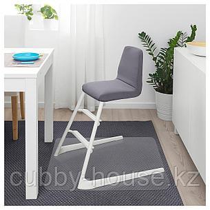 ЛАНГУР Мягкий чехол детского стула, серый, фото 2