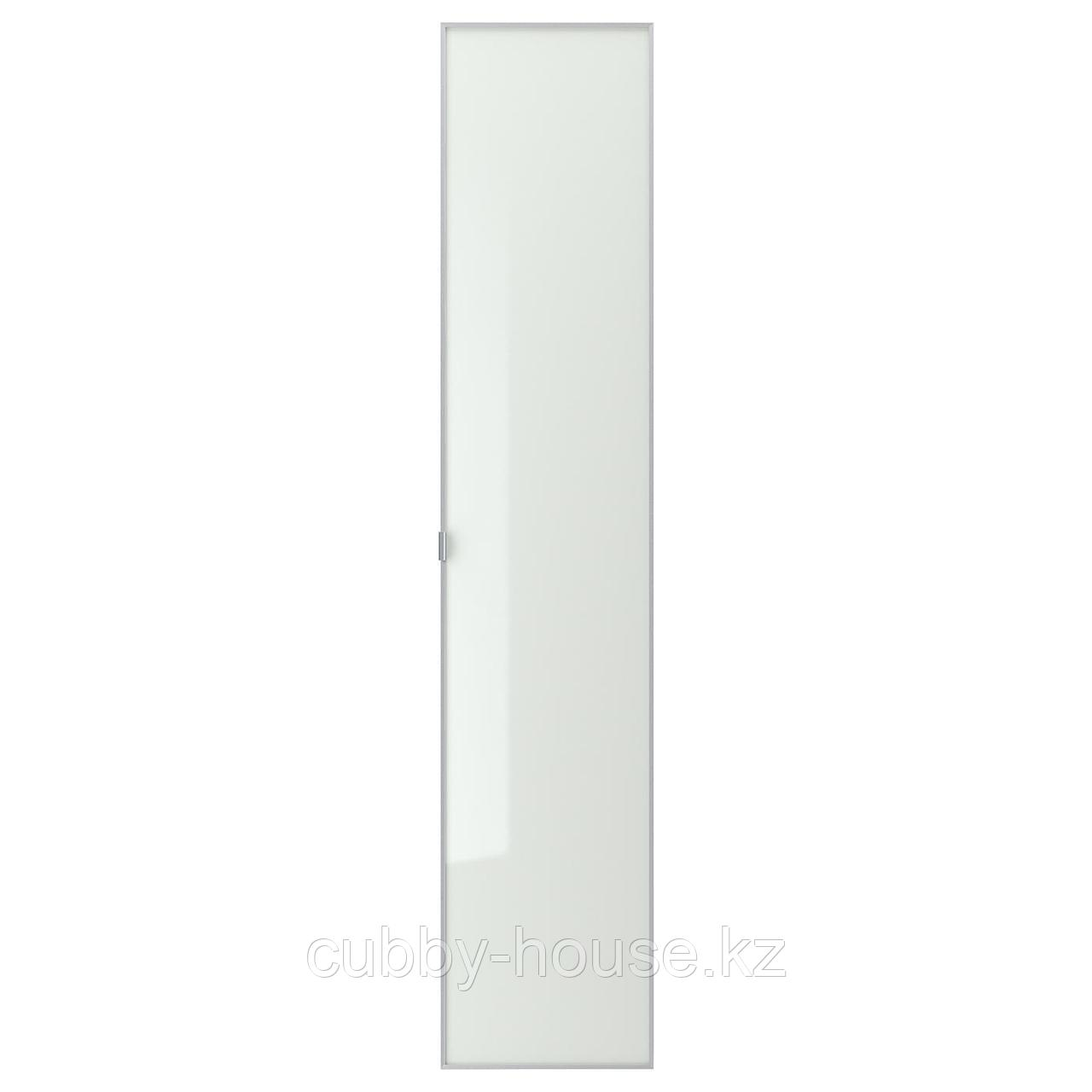 МОРЛИДЕН Стеклянная дверь, алюминий, 40x97 см