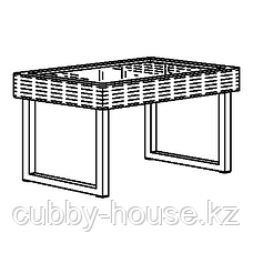 СОЛЛЕРОН Садовый столик, антрацит, коричневый, 92x62 см, фото 3