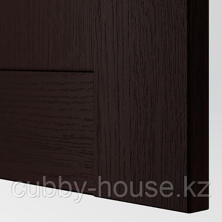БЕРГСБУ Дверца с петлями, черно-коричневый, 50x229 см, фото 2