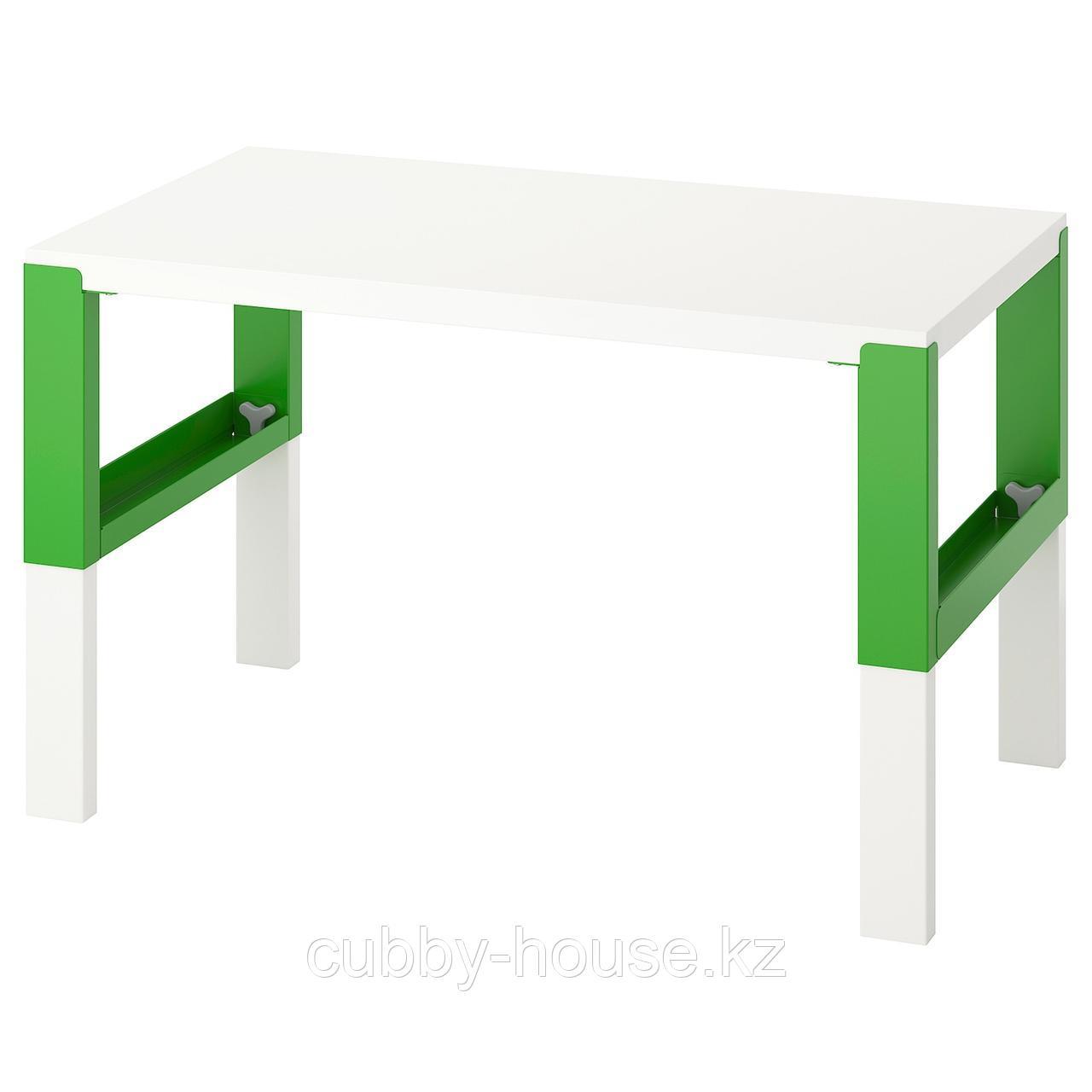ПОЛЬ Письменный стол, белый, 96x58 см