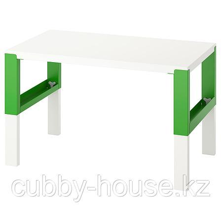 ПОЛЬ Письменный стол, белый, 96x58 см, фото 2