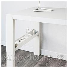 ПОЛЬ Письменный стол, белый, 96x58 см, фото 3
