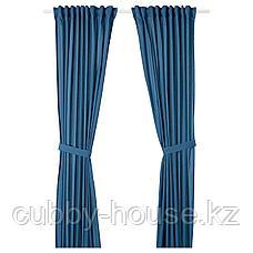 АМИЛЬДЭ Гардины с прихватом, 1 пара, синий, 145x300 см, фото 2