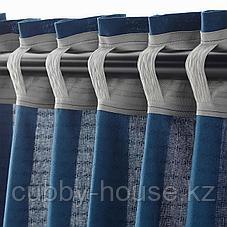 АМИЛЬДЭ Гардины с прихватом, 1 пара, синий, 145x300 см, фото 3