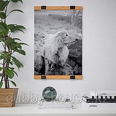 ВИСБЭКК Держатель для постера, бамбук, 40 см, фото 2