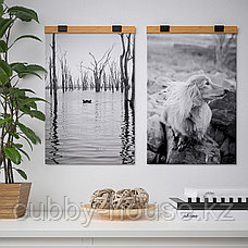 ВИСБЭКК Держатель для постера, бамбук, 40 см, фото 3