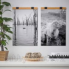 ВИСБЭКК Держатель для постера, бамбук, 61 см, фото 3