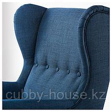 СТРАНДМОН Кресло с подголовником, Шифтебу темно-синий, фото 3