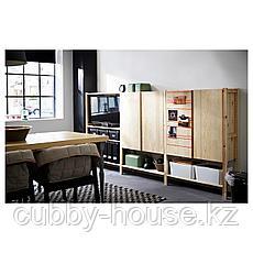 ИВАР 3 секции/полки/шкаф, сосна, 259x30x124 см, фото 3