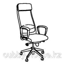 МАРКУС Рабочий стул, Глосе черный, фото 3