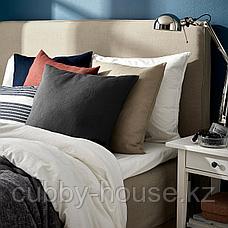 ВИГДИС Чехол на подушку, темный золотисто-коричневый, 50x50 см, фото 3