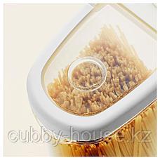 ИКЕА/365+ Контейнер+крышка д/сухих продуктов, прозрачный, белый, 2.3 л, фото 3