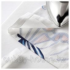 СОНГЛЭРКА Гардины с прихватом, 1 пара, бабочка, белый синий, 120x300 см, фото 3