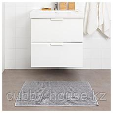ТОФТБУ Коврик для ванной, серо-белый меланж, 50x80 см, фото 3