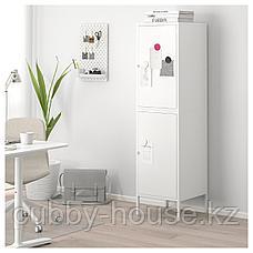 ХЭЛЛАН Комбинация для хранения с дверцами, белый, 45x47x167 см, фото 2