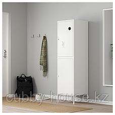 ХЭЛЛАН Комбинация для хранения с дверцами, белый, 45x47x167 см, фото 3