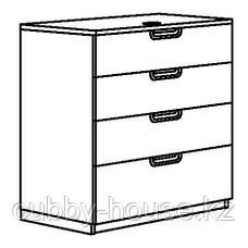 ГАЛАНТ Тумба с ящиками, белый, 80x80 см, фото 3