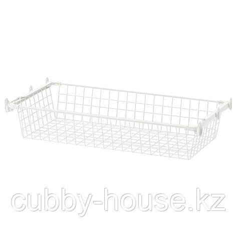 ХЭЛПА Проволочн корзина с направляющими, белый, 60x40 см, фото 2