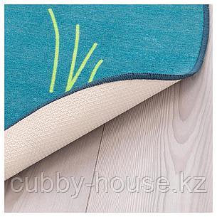 ДЬЮНГЕЛЬСКОГ Ковер безворсовый, птица, синий, 100 см, фото 2