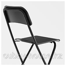 ФРАНКЛИН Стул барный, складной, черный, черный, 63 см, фото 3