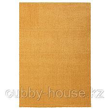 ЛАНГСТЕД Ковер, короткий ворс, желтый, 133x195 см, фото 2