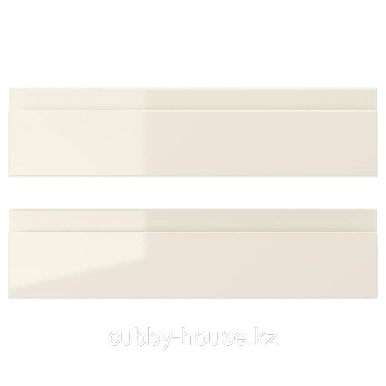 ВОКСТОРП Фронтальная панель ящика, глянцевый светло-бежевый, 60x40 см