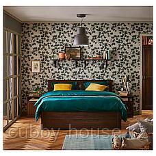 СОНГЕСАНД Каркас кровати с 2 ящиками, белый, Лурой, 140x200 см, фото 3
