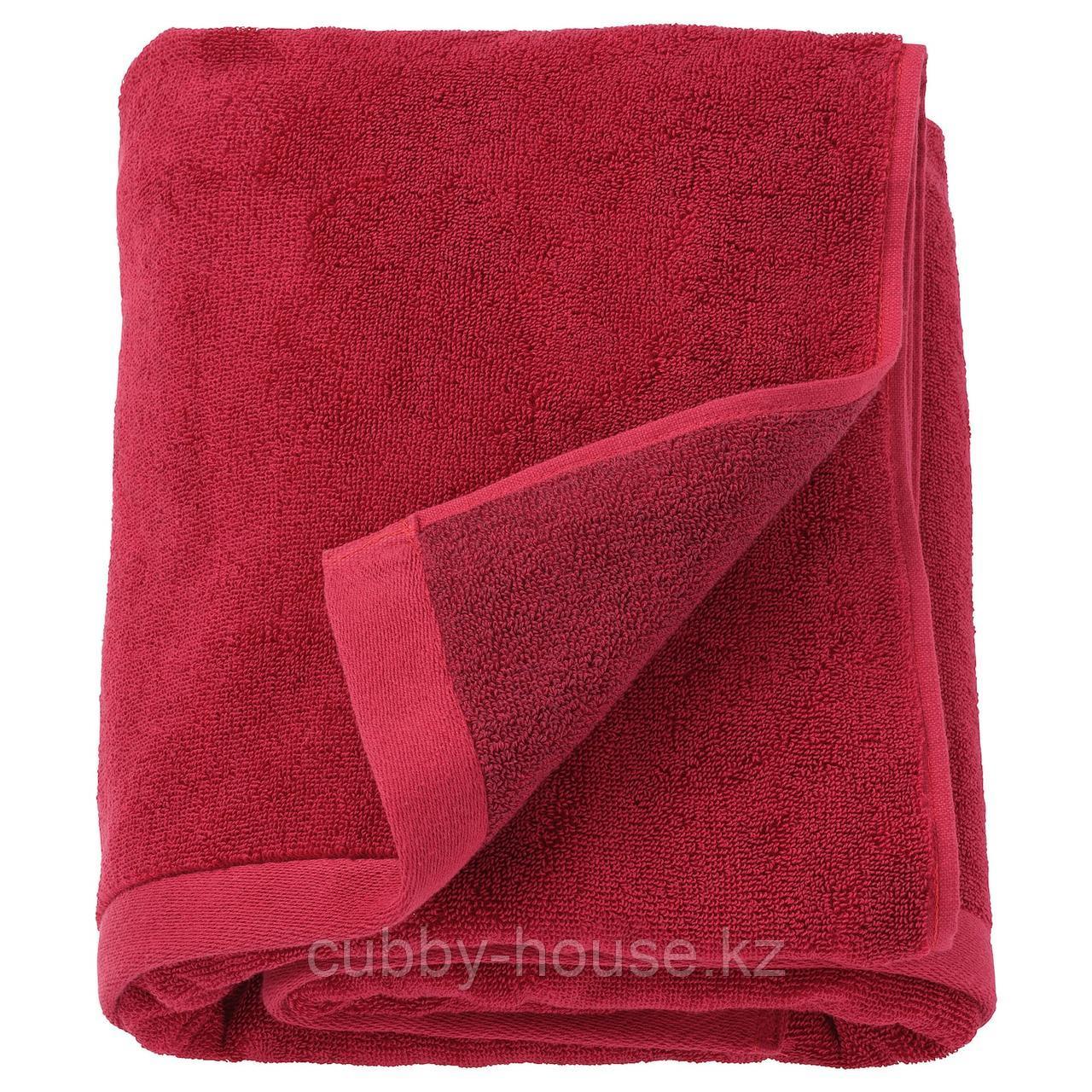 ХИМЛЕОН Полотенце, темно-красный, меланж, 50x100 см