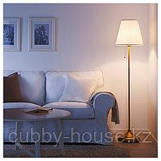 ОРСТИД Светильник напольный, латунь, белый, фото 3