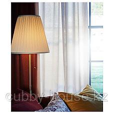 ОРСТИД Светильник напольный, латунь, белый, фото 2