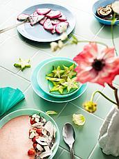 БЕСЕГРА Тарелка десертная, светлая бирюза, 21 см, фото 3