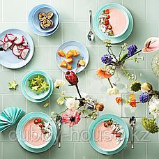 БЕСЕГРА Тарелка десертная, светлая бирюза, 21 см, фото 2