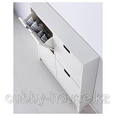 СТЭЛЛ Галошница, 4 отделения, белый, 96x90 см, фото 3