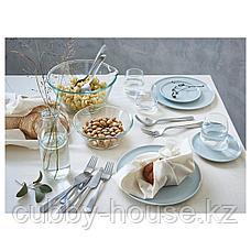 КРУСТАД Тарелка, светло-серый, 25 см, фото 2