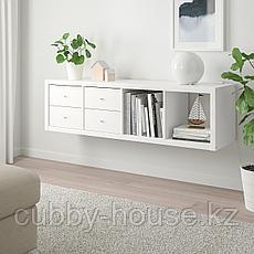 КАЛЛАКС Стеллаж с 2 вставками, белый, 42x147 см, фото 2