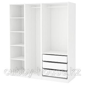 ПАКС Гардероб, белый, 175x58x236 см, фото 2