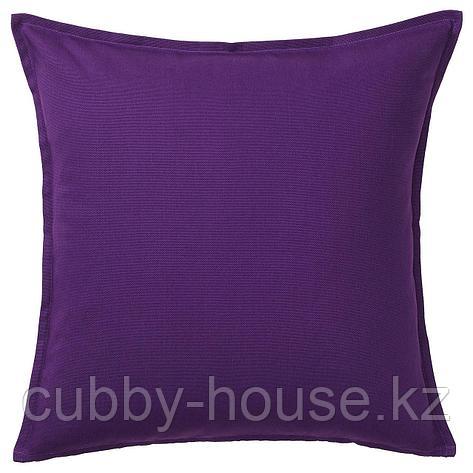ГУРЛИ Чехол на подушку, темно-сиреневый, 65x65 см, фото 2