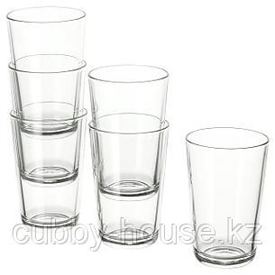 ИКЕА/365+ Стакан, прозрачное стекло, 30 сл, фото 2