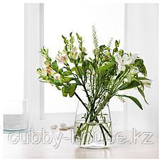 БЕРЭКНА Ваза, прозрачное стекло, 18 см, фото 2