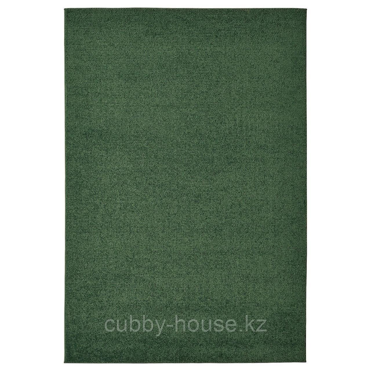 СПОРУП Ковер, короткий ворс, темно-зеленый, 200x300 см