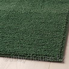 СПОРУП Ковер, короткий ворс, темно-зеленый, 200x300 см, фото 3