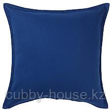 ГУРЛИ Чехол на подушку, темно-синий, 50x50 см, фото 2