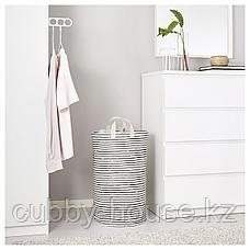 КЛУНКА Мешок для белья, белый, черный, 60 л, фото 3