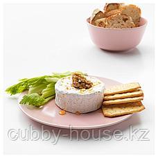 ДИНЕРА Тарелка десертная, светло-розовый, 20 см, фото 3
